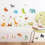 Jungle Animal Wall Decal Pack of 50 Colorful Stickers - Peel & Stick Unisex Animal Stickers for Kids Party Decoration - Nursery Decor Baby Decals by Dekosh